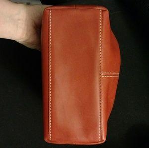 Coach Bags - Coach orange leather mini handbag NWOT
